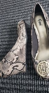 FIONI Clothing Shoes - Snakeskin Wedge Heels
